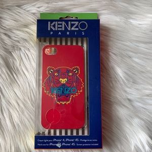 Kenzo Iphone 4/4s Case Cover Hard Shell Tiger